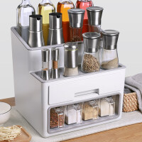 调料品架子置物架厨房用品调味料收纳盒油盐酱醋省空间多功能酱油