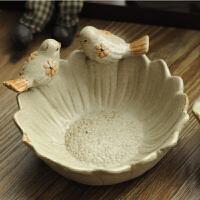 复古装饰摆件家居饰品小鸟烟灰缸装饰烟灰缸复古烟缸陶瓷