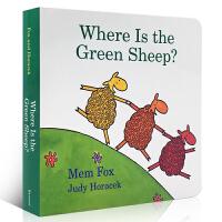 英文原版绘本 Where Is the Green Sheep 绿绵羊在哪儿?吴敏兰推荐书单123 第44本颜色认知