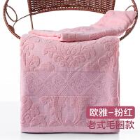 全棉毛巾被纯棉单人双人老式夏季六层纱布空调夏凉被婴儿童盖毯子 粉红色 欧雅