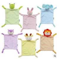 JJOVCE婴儿新款柔安抚巾口水巾动物安抚玩偶毛绒婴儿玩具