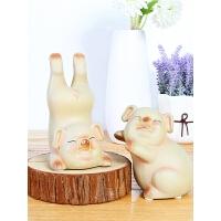创意家居装饰品摆件陶瓷小猪儿童礼物玄关酒柜电视柜桌面摆设