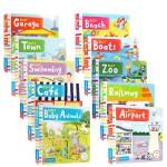 英文原版绘本 Busy books系列10册纸板机关操作书Busy:Garden/Railway/BOOKSHOP/g