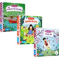 英文原版绘本0 3 6岁 First Stories 童话篇 BUSY系列 8册 纸板机关操作活动书 Snow Whi