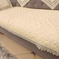 欧式沙发垫布艺坐垫防滑四季通用简约现代蕾丝沙发套巾