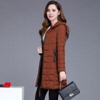 中长款棉衣女冬装连帽羽绒大码显瘦加厚保暖棉袄外套