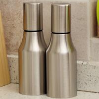 【满减】欧润哲 2只套装 不锈钢油壶防漏 创意防尘厨房酱油瓶醋瓶调味罐 500ml
