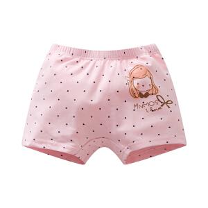 儿童内裤 女童幼儿园宝宝棉质可爱卡通面包裤宝宝大pp花边夏季外穿平角短裤