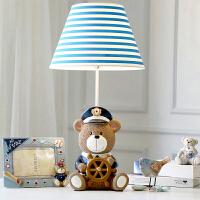 小熊船长台灯卧室床头灯温馨调光LED创意儿童房