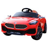 新款儿童电动车可坐人四轮儿童电动车带摇摆可遥控汽车可自驾玩具车可坐小孩电瓶车 Z4红色(双电双驱+皮座椅)