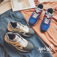 DAZED CONFUSED 潮牌冬季新款纯色增高运动鞋韩版男士加绒保暖休闲鞋时尚拼色个性