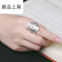 2018抖音网红新品925银男女通用戒指 泰国进口手工银清迈老银匠花式指环