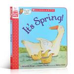 顺丰发货 儿童英文原版绘本 It's Spring! 春天来啦!Scholastic 角色扮演互动游戏书 亲子互动玩乐