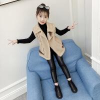 女童马甲秋冬款2018新款韩版童装中大童洋气儿童外穿麂皮绒外套