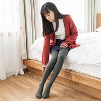 秋保暖棉毛圈浅灰色丝袜连裤袜加绒加厚显瘦黑色打底袜子女