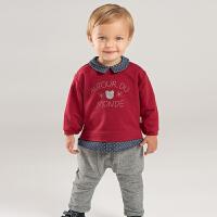 [2件3折价:102.9]戴维贝拉秋冬新款儿童套装 宝宝长裤休闲两件套DB8425