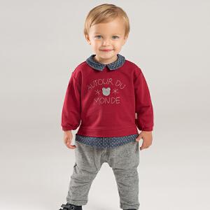 戴维贝拉春秋新款儿童套装 宝宝长裤休闲两件套DB8425