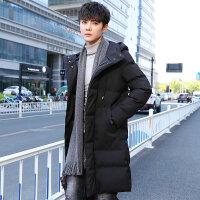 棉衣男士加厚外套中长款2018新款冬天季韩版潮流修身棉袄男装