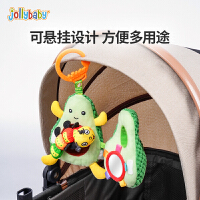 jollybaby婴儿玩具3-6-12月宝宝新生儿车床挂铃早教益智玩偶摇铃