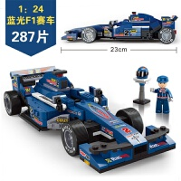快乐小鲁班积木F1方程赛车拼装运输车维修站儿童男孩模型玩具儿童节礼物