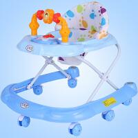 儿童多功能学步车6-17个月侧翻可坐折叠带音乐宝宝学走路滑滑车O
