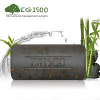 [当当自营]EGISOO御姬秀竹炭黑金手工皂100g 祛黑头 紧致肌肤 竹炭皂金箔皂洁面皂