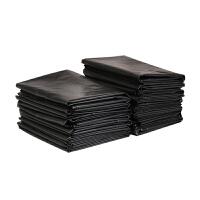 100只装加厚黑色平口大垃圾袋 物业酒店宾馆环卫厨房大号塑料袋60*80cm100只装