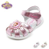 【99元任选2双】迪士尼Disney童鞋新款女童苏菲亚花朵凉鞋时尚甜美宝宝鞋婴幼童学步鞋(0-4岁可选)K00291