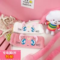 韩国ins刺绣可爱水冰月猫咪洗脸束发带立体猫耳朵发箍敷面膜发带