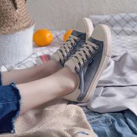 帆布鞋女2018新款港味百搭韩版原宿复古学生街拍chic板鞋
