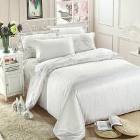 家纺四件套 60支棉婚庆贡缎提花四件套欧式床上用品