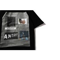 欧美街头设计感照片印花复古朋克嘻哈休闲圆领宽松短袖T恤男女TEE