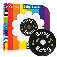 英文原版 低幼有声书 Baby Touch: Busy Baby Book +CD 宝宝触摸操作书:忙碌的小宝宝+CD