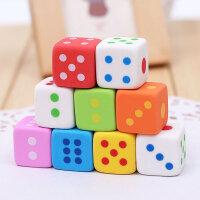 正方体彩色骰子造型橡皮擦 可爱创意礼品文具小学生学习用品3块装