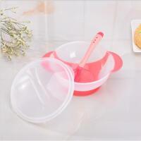 婴儿碗软头勺子宝宝吸盘碗感温勺新生儿童训练辅食碗儿童防摔餐具B31