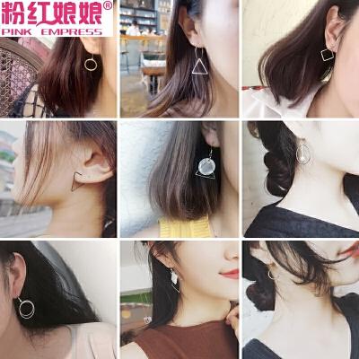 韩版复古几何耳环耳线长款耳钉女潮个性耳扣简约耳坠吊坠耳饰耳圈