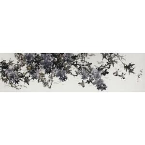 王维舒 《紫.藤》180*.48cm