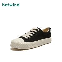 热风女士系带休闲帆布鞋H14W0770