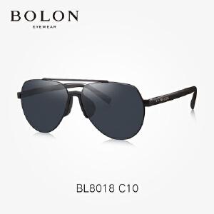 BOLON暴龙个性太阳镜复古蛤蟆镜潮流金属框墨镜开车眼镜BL8018