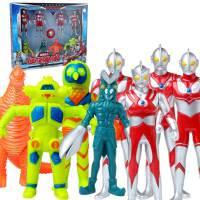 锐视 奥特曼+怪兽8个组合套装  咸蛋超人  男孩儿童玩具 1115201-02组合*