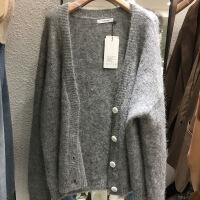 韩国2018秋冬羊绒气质短款针织开衫保暖加厚羊毛毛衣外套女上衣 均码