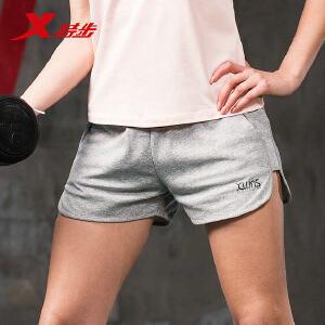 特步女子运动短裤2018夏季新品轻薄针织舒适透气运动健身休闲裤子882228609124