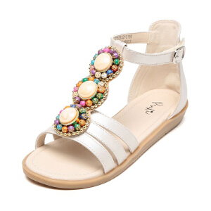 鞋柜shoebox夏季凉鞋波西米亚风露趾小女孩中大童公主鞋女童凉鞋