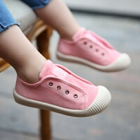 儿童帆布鞋一脚蹬懒人鞋小女童男童幼儿园室内女宝宝布鞋