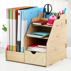 幽咸家居 木质桌上文件收纳 桌上层架层架置物架 键盘托架 桌上收纳架 办公收纳架 显示器支架