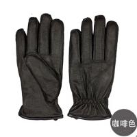 新款冬季男士真皮手套分指手套保暖时尚 精品羊皮手套