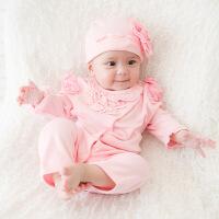 男女宝宝春装0-1岁爬爬服春秋薄款新生儿哈衣12个月婴儿连体衣服
