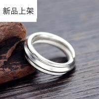 2018抖音网红新品925银泰银手工银亮银戒指 原创设计师男女款调节指环