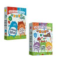 英文原版 Super Happy Party Bears Party Collection快乐派对熊系列2册套装 儿童全彩章节书 精装故事书 Marcie Colleen