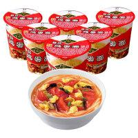 和厨 番茄鸡蛋面62g*6杯/箱泡面速食非油炸方便面杯面冻干面